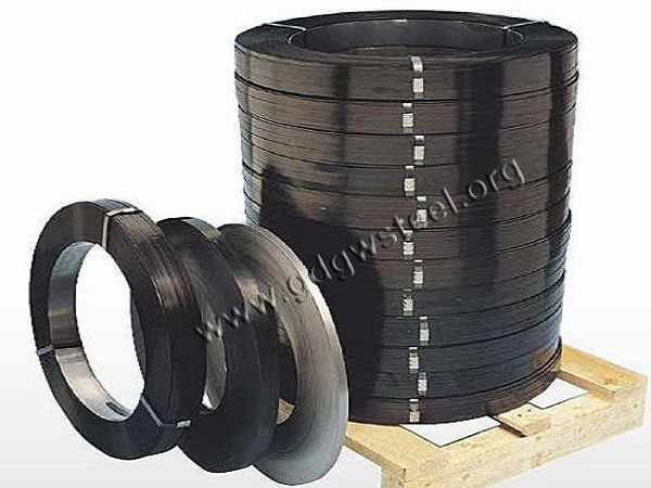 high tensile black painted steel strappings